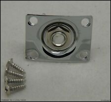 Sqaure Jack Output Plate Socket for Tele and SG Electric Guitar Replacement CR