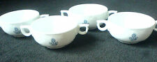 ROSENTHAL WHITE CLASSIC ROSE SANSSOUCI  2 Handle Cup/Bowl x 4  with monogram