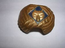 Cub Scout Brass Neck. Slide, Turks Head Design w/ Blue Cub Emblem (1951-2006)