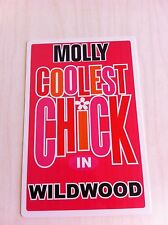 MOLLY Coolest Chick In Wildwood New Jersey Personalized Wall Door Sign NJ N.J.