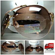 Women's CLASSIC RETRO VINTAGE AVIATOR Style SUN GLASSES Rose Gold & Pink Frame