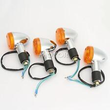 Motorcycle 4pcs Amber Bullet Turn Signals Lights For Honda VTX 1300 C R S RETRO