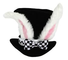Alice In Wonderland White Rabbit topper Bunny Adult Top HAT Costume Ears