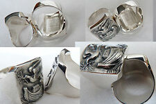 Catholic Christianity Bischof  noah's ark,freedom pigeon    RING 925 SILVER
