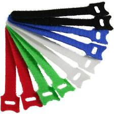 Inline velcro trabillas/bridas set, 10 unid. 12x150mm, 5 colores diferentes