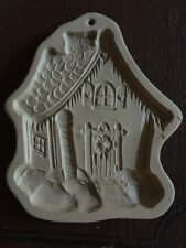 BROWN BAG COOKIE ART 1989 Hill Design Stoneware Gingerbread House Mold Wax Soap
