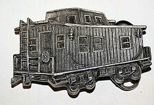VTG 1979 THE GREAT CHICAGO TRAIN WAGON METAL BELT BUCKLE LIMITED EDITION #271
