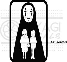 Spirited Away - No face, Haku and Chihiro - anime - vinyl decal