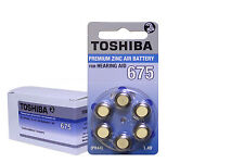 New, Toshiba Hearing Aid Batteries Size 675 (60 Batteries) PR44