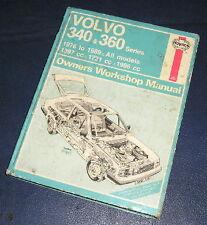 1976-89 VOLVO 340+360 1.4/1.7/2.0 PETROL HAYNES WORKSHOP MANUAL  715