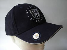 GOLF GIFT - SCOTLAND NAVY CAP HAT WITH BALL MARKER - BALL OLD COURSE ST ANDREWS