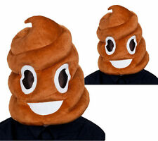 Comedy Brown Poop Mask Funny Fancy Dress Accessory Adults