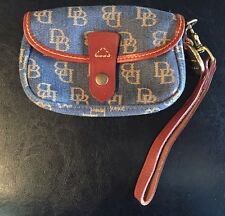 Dooney & Bourke Signature Continental Clutch Snap Closure Wallet Canvas Leather