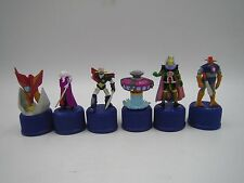 Mazinger Z Getter Robo Great Mazinger Bottle Cap Mini Figure Set of 6 Japan