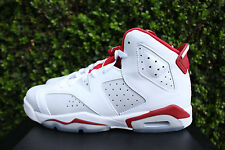 NIKE AIR JORDAN 6 VI RETRO GS SZ 6 Y ALTERNATE HARE WHITE GYM RED 384665 113