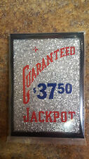 REPLACMENT BUCKLEY GUARANTEED $37.50 JACKPOT GLASS for ANTIQUE SLOT MACHINE