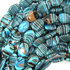 13x18mm Blue Colorful Turkey Turquoise Oval Gemstone Loose Beads 15""