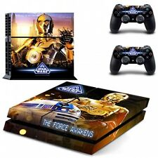 STAR Wars R2D2 & C3PO Vinile Adesivo Set Per Sony PlayStation 4 PS4