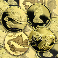 1/4 oz Proof Gold Canadian $100 Coin - Random Year
