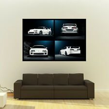 "Poster of Toyota TT Supra MKIV 2JZ-GTE JZA80 Giant Huge Collage Print 54""x36"""