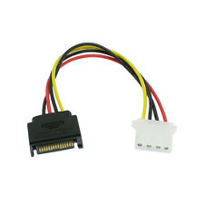 New Serial ATA SATA To IDE/Molex 4 PIN Reverse Power Adapter Cable
