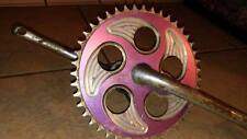 GT Overdrive 43T Chainwheel Chainring With Crank & Bearings Rare Midschool BMX