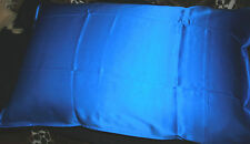 100%SILK-PILLOW CASEx1*Electric Blue'Skin+HairCare*QualityWell Made*Twin Seam*BR