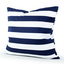 Black White Striped Cotton Linen Pillow Case Modern Home Decor Cushion Cover 18""