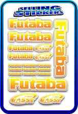 FUTABA SERVO RADIO RX TX 2.4G FLIGHT REMOTE CONTROL STICKERS FASST ORANGE YELO W