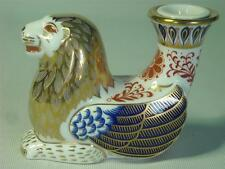 Royal Crown Derby WINGED LION CANDLESTICK Candle Stick Holder Mythical Creatures