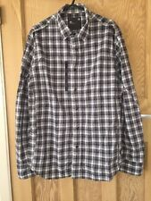 "G-Star Black Check Work Shirt Style Cotton Long Sleeved Size L AtoA21"" L29"" *C1"