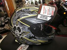 *NEW* Vega Full Face Helmet shielded, Yellow. Medium M Motorcycle ATV bike snow