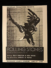 ROLLING STONES-1975 TOUR OF THE AMERICAS CONCERT TOUR  POSTER-NEAR MINT 2 MINT