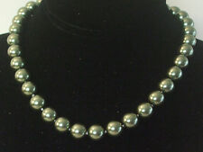 12MM Rich Green South Sea Shell Pearl Necklace NEW (in a silk gift bag) C20