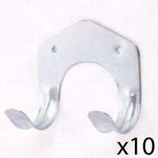 10 x DOUBLE METAL TOOL BRACKET Garden/Garage/Shed Storage Hook Holder/Hanger
