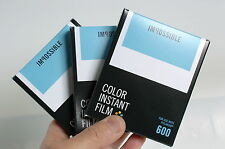 3x Impossible Project New Colour 600 film for Polaroid 600 cameras Aussie stock!
