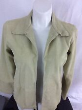 Womens Sz Large Liz Claiborne Genuine Leather Suede Jacket Blazer in EUC