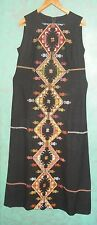 Rare Vintage Bedouin Palestinian Hand Made Embroidery Dress Middle East - Israel