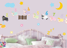 Counting Sheep - Pack of 30 - Wall Art Vinyl Stickers - Nursery Bedtime Decals