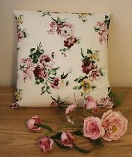 """IKEA EMMIE ROS VINTAGE FLORAL FABRIC CUSHION COVER 100% COTTON 16 x 16"""""""