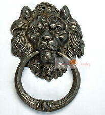 """Lion Door Knocker Handle Brass Hardware Door Pull 7.28"""" Copper Gold Bronzy color"""