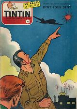 JOURNAL DE TINTIN N°447 - 16 MAI 1957 COUVERTURE REDING, DENT POUR DENT
