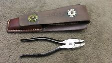 US WW2 POST WAR LINEMAN PLIERS TL 13 AND LEATHER POUCH US ARMY SIGNAL CORPS