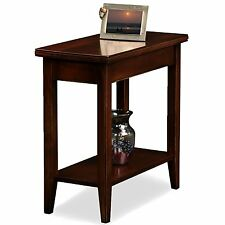 Leick Furniture 10505 Laurent Narrow Chairside End Table Chocolate Cherry Finish