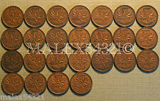 NICE 1937 TO 1960 PENNY SET (25 COINS) COPPER         FREE $HIPPING IN CANADA!