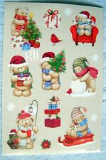 CHRISTMAS HOLIDAY BEARS - AGC SCRAPBOOKING STICKERS NWOP