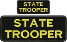 state trooper embroidery patches 4x10 and 2x5 hook yellow