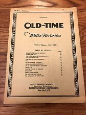 Vintage Old-Time Waltz Favorites W/ Vocal Choruses Sheet Music 15 Fifteen Songs