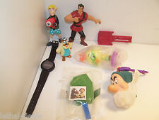 Walt Disney McDonalds Happy Meal Toys 8 Piece LOT Kellog 1991