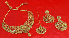 10011 Indian Bollywood Fashion Jewellery Ethnic Gold Plated LCT Necklace Set